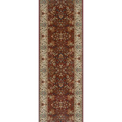 Sitamarhi Burgundy Area Rug Rug Size: Runner 27 x 6