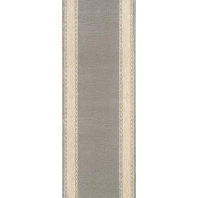 Sohagpur Gray Area Rug Rug Size: Runner 27 x 12