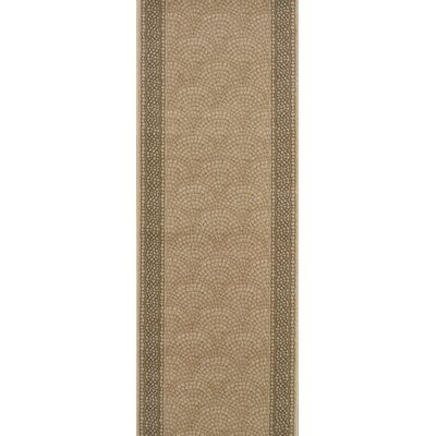 Srisailam Tan Area Rug Rug Size: Runner 27 x 6