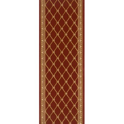 Township Red Area Rug Rug Size: Runner 27 x 12