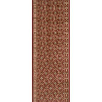 Suar Red Area Rug Rug Size: Runner 22 x 15