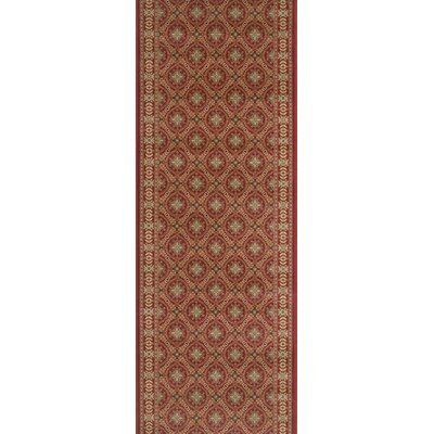 Suar Red Area Rug Rug Size: Runner 22 x 12