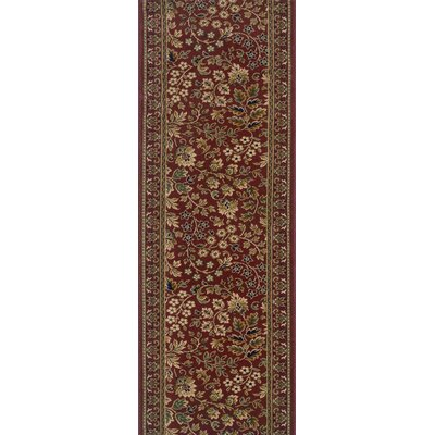 Sujanpur Red Area Rug Rug Size: Runner 22 x 12