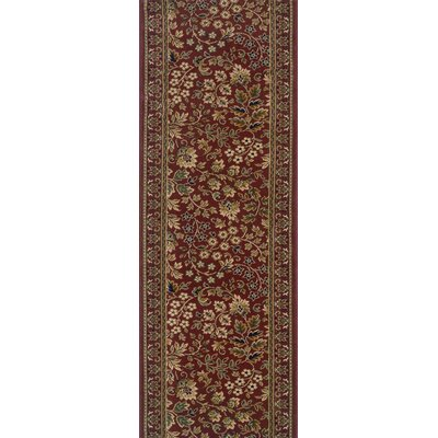 Sujanpur Red Area Rug Rug Size: Runner 22 x 15