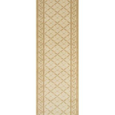 Sultanganj Beige Area Rug Rug Size: Runner 27 x 15