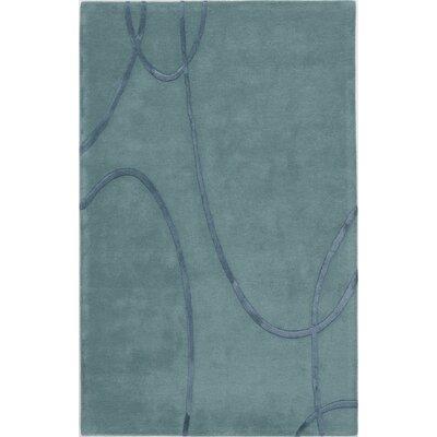 Sundarnagar Hand-Tufted Teal Area Rug Rug Size: 5 x 8