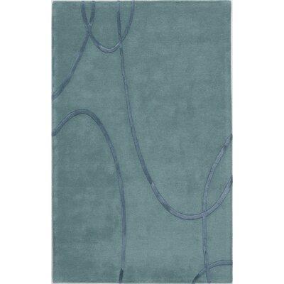Sundarnagar Hand-Tufted Teal Area Rug Rug Size: 7 x 9