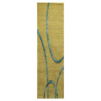 Suratgarh Hand-Tufted Green Area Rug Rug Size: Runner 23 x 8