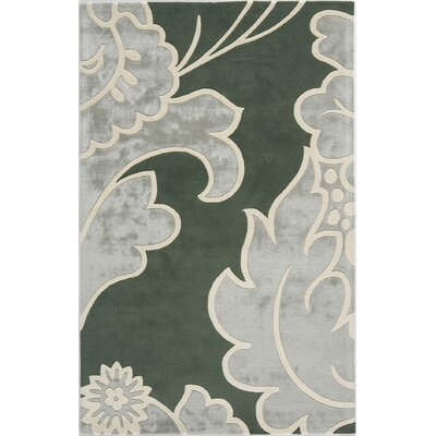 Suri Hand-Tufted Green Area Rug Rug Size: 5 x 8