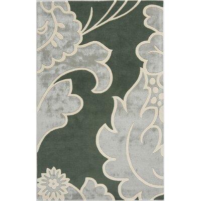 Suri Hand-Tufted Green Area Rug Rug Size: 8 x 11