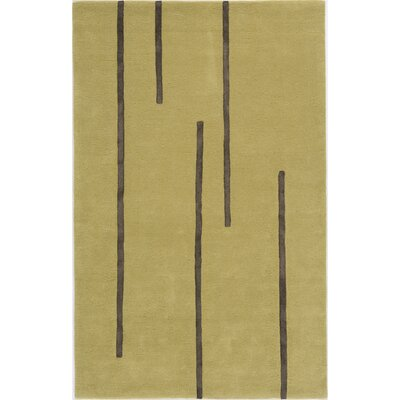 Dabhade Hand-Tufted Gold Area Rug Rug Size: 4 x 6