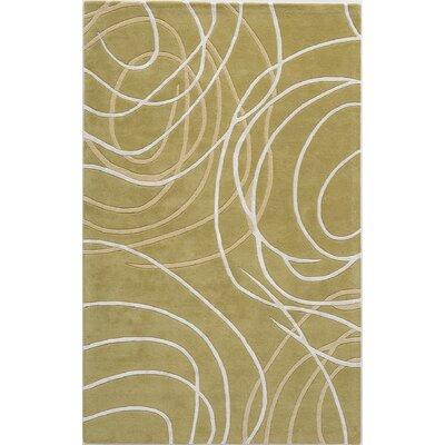 Tandur Hand-Tufted Green Area Rug Rug Size: 8 x 11