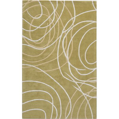 Tandur Hand-Tufted Green Area Rug Rug Size: 16 x 23
