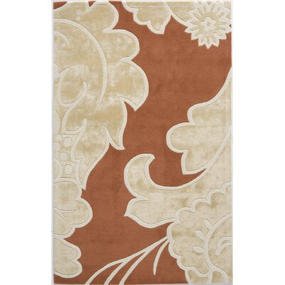 Tanuku Hand-Tufted Rustic/Beige Area Rug Rug Size: 8 x 11