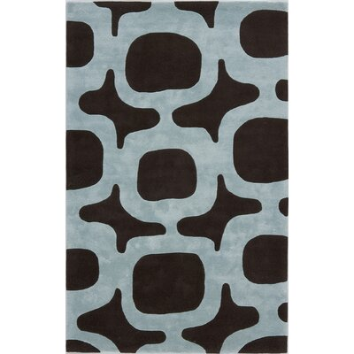 Tarana Hand-Tufted Black/White Area Rug Rug Size: 16 x 23