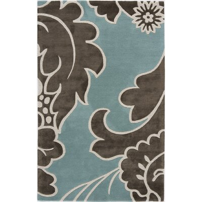 Tarbha Hand-Tufted Blue/Brown Area Rug Rug Size: 5 x 8
