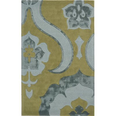 Tarikere Hand-Tufted Green/Gray Area Rug Rug Size: 5 x 8