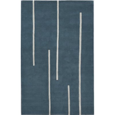 Tasgaon Hand-Tufted Wool Blue Area Rug Rug Size: Rectangle 5 x 8