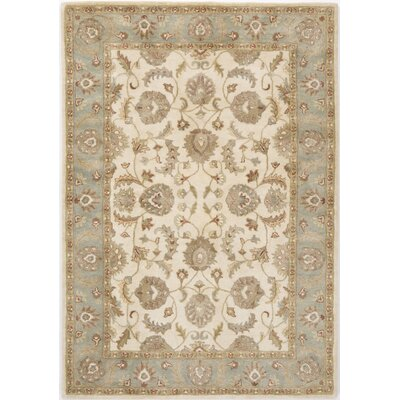 Tezpur Hand-Tufted Ivory Area Rug Rug Size: 5 x 8