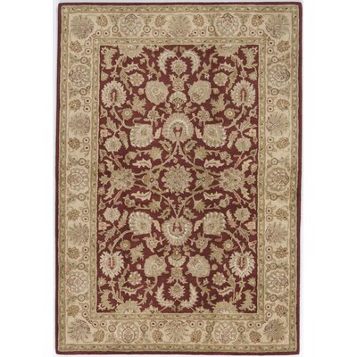 Thakurdwara Hand-Tufted Dark Red Area Rug Rug Size: 9 x 12