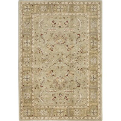 Theni Hand-Tufted Olive Area Rug Rug Size: 9 x 12