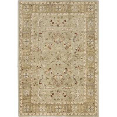 Theni Hand-Tufted Olive Area Rug Rug Size: 5 x 8