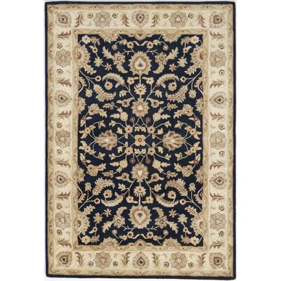 Allinagaram Hand-Tufted Navy Area Rug Rug Size: 9 x 12