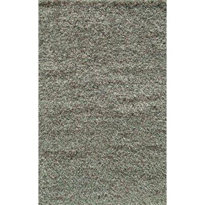 Tikamgarh Hand-Woven Green/Grey Area Rug Rug Size: 5 x 8
