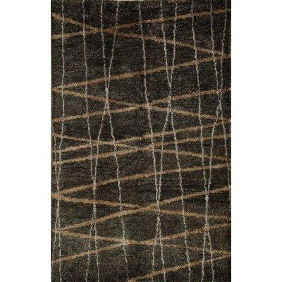 Tilda Hand-Woven Charcoal Area Rug Rug Size: 5 x 7