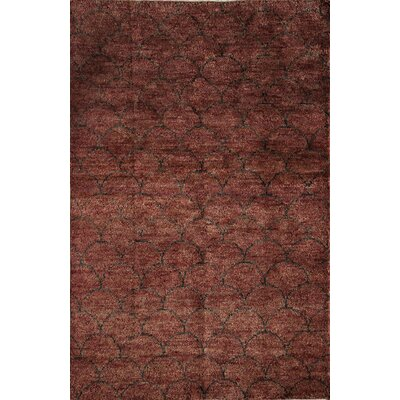 Newra Hand-Woven Red Area Rug Rug Size: 7 x 9