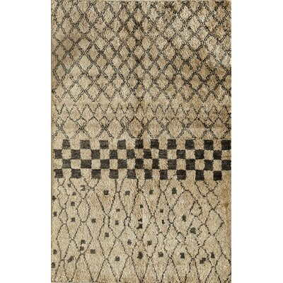 Tilhar Hand-Woven Beige Area Rug Rug Size: 7 x 9