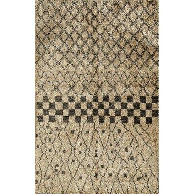 Tilhar Hand-Woven Beige Area Rug Rug Size: 5 x 7