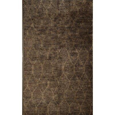 Tindivanam Hand-Woven Brown Area Rug Rug Size: 16 x 23