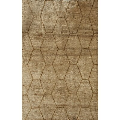 Tiptur Hand-Woven Tan Area Rug Rug Size: 16 x 23