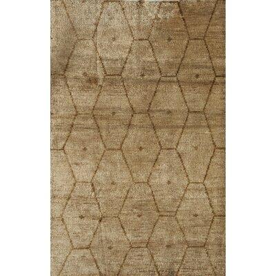 Tiptur Hand-Woven Tan Area Rug Rug Size: 7 x 9