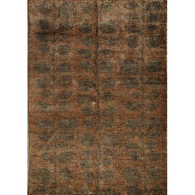 Tirora Hand-Woven Brown Area Rug Rug Size: 16 x 23
