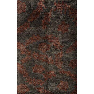 Tiruchendur Hand-Woven Graphite Area Rug Rug Size: 16 x 23