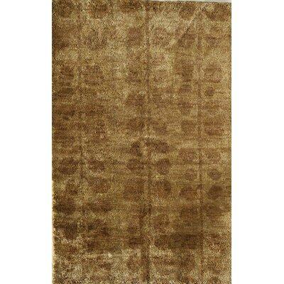 Tirupathur Hand-Woven Tan Area Rug Rug Size: 5 x 7