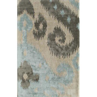 Tiruttani Hand-Tufted Light Blue/Ivory Area Rug Rug Size: 16 x 23