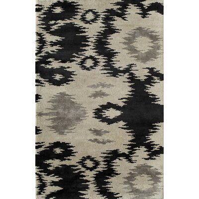 Tiruvu Handmade Ivory/Black Area Rug Rug Size: 16 x 23