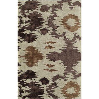 Tirwaganj Handmade Brown/Ivory Area Rug Rug Size: 16 x 23