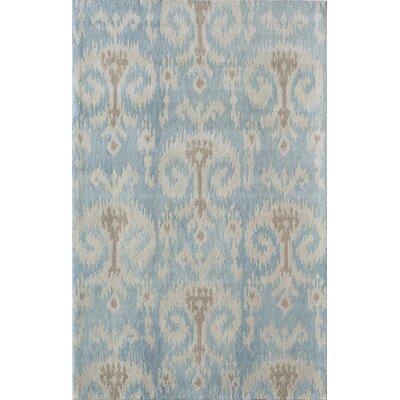 Titlagarh Handmade Light Blue/Ivory Area Rug Rug Size: 16 x 23