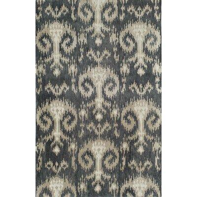Todabhim Handmade Gray/Tan Area Rug Rug Size: 5 x 8