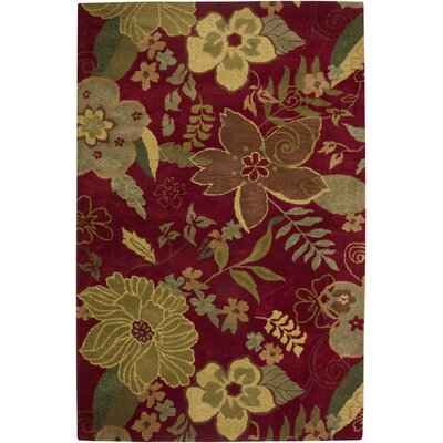 Tohana Hand-Tufted Red Area Rug Rug Size: 8 x 10