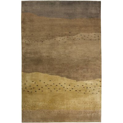 Tuensang Hand-Knotted Brown Area Rug Rug Size: Rectangle 4 x 6