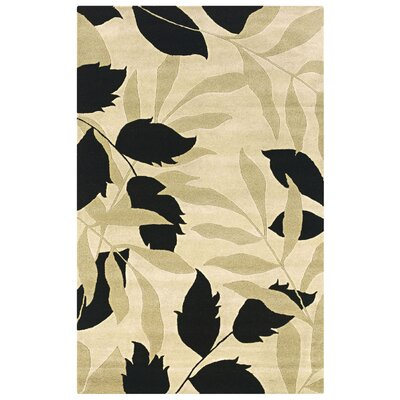 Tura Hand-Tufted Ivory Area Rug Rug Size: 5 x 8