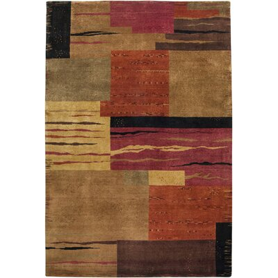 Umarga Hand-Knotted Rust Area Rug Rug Size: Rectangle 56 x 86