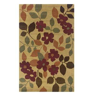 Umaria Hand-Tufted Gold Area Rug Rug Size: Rectangle 8 x 10