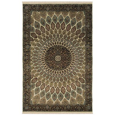 Una Hand-Knotted Area Rug Rug Size: 56 x 86
