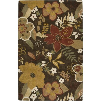 Islampur Hand-Tufted Brown/Tan Area Rug Rug Size: 5 x 8